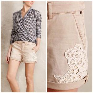 PILCRO hyphen laced chino shorts